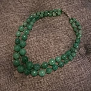 3/$20 🎈 Jade green beads necklace